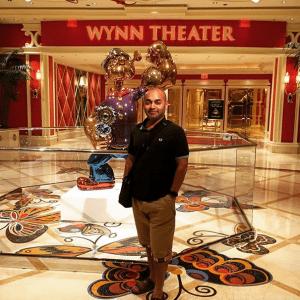 Dr Iqbal Mohiuddin in Las Vegas at the Wynn hotel